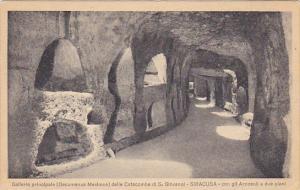Italy Siracusa Galleria principale delle Catacombe di San Giovanni