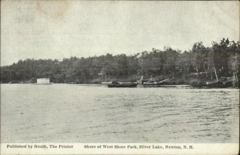 Newton NH Silver Lake West Shore Park c1910 Postcard