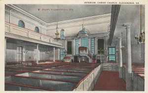 ALEXANDRIA, Virginia, 1900-10s; Interior, Christ Church