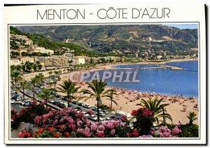 Postcard Moderne Menton Cote D & # 39Azur New beaches of Garavan