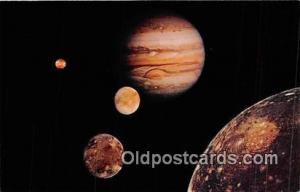 Space Postcard Post Card Voyager 1, March 1979 Jupiter with 4 Moons Space Pos...