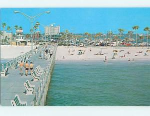 Unused Pre-1980 SCENE AT BEACH Clearwater Florida FL M6765