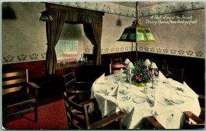 1910s Glendale, CA Postcard CASA VERDUGO Private Dining Room Pacific Electric