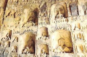China Niches on The Northern Wall of the Guyan's Cave (Northern Wei)