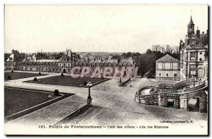 Postcard Old Palace of Fontainebleau Court Farewell Allee ministers