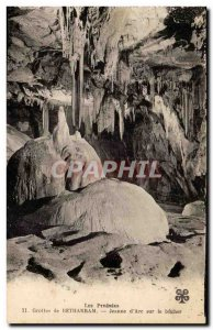 Caves Betharram Old Postcard Jeanne d & # 39arc at the stake