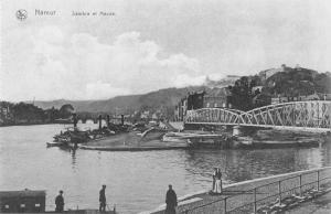 Namur Belgium Sambre-et-Meuse Scenic View Antique Postcard J48081