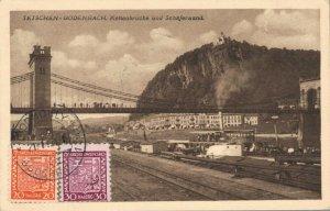 Czech Republic Tetschen Bodenbach Kettenbrücke und Schäferwand 03.02