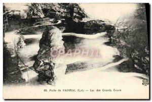 Old Postcard Padirac Puits Lac Des Grands Gours