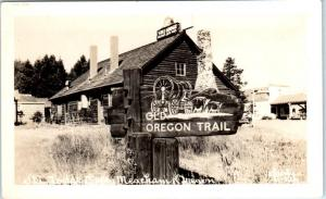 RPPC  MEACHAM, Oregon  OR   Roadside SKI LODGE CAFE  ca 1950s Photo   Postcard