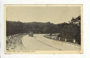 Horseshoe bend in road, Muskegon, Michigan, PU-1937