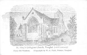 St Mary's Collegiate Church, Youghal From Old Woodcut