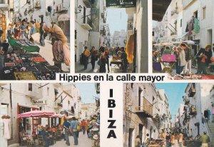 POSTAL B10802: IBIZA: HIPPIES EN CALLE MAYOR