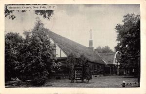 New Paltz New York Methodist Church Street View Antique Postcard K42220