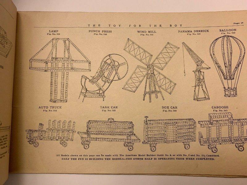 Orig 1916 American Model Builder, American Mechanical Toy Dayton Ohio Catalog
