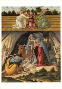 Art Postcard, Mystic Nativity (detail) by Sandro Botticelli DH3