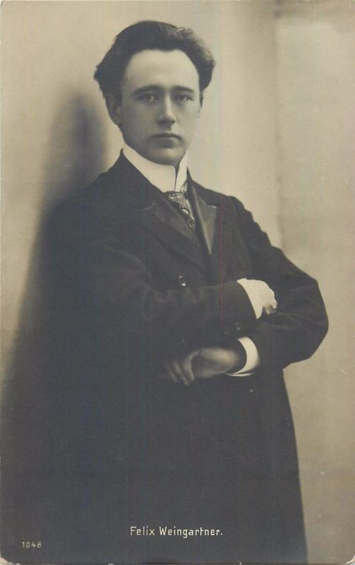 Austrian conductor, composer and pianist Felix Weingartner