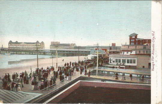 Young's Pier Atlantic City New Jersey Undivided Back Postcard Pre-1907 Vintage
