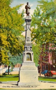 Pennsylvania Carbondale Civil War Monument