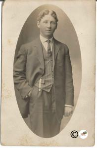 Real Photograph Postcard of 1910 Gentle Man in Suit
