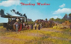 Tractor Threshing Machine On Dutch Farm Pennsylvania