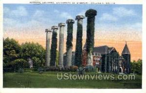 Historic Columns Columbia MO 1939