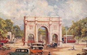 THE MARBLE ARCH Hyde Park, London Tuck Oilette c1910s Vintage Postcard