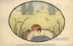 Artist Signed Mela Koehler 1918 close to perfect corners, light yellowing fro...