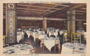 Old Faithful Inn Dining Room Yellowstone National Park Curteich