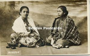 singapore, Beautiful Young Native Malay Girls (1910s) RPPC