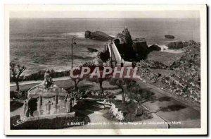 Modern Postcard Biarritz Ensamble of the Virgin and the Memorial