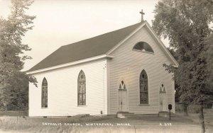 Winterville ME Catholic Church Real Photo Postcard