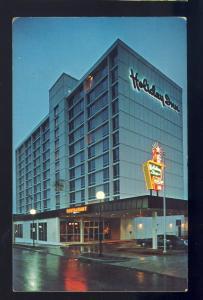 Portland, Maine/ME Postcard, Holiday Inn, Downtown, Classic Neon