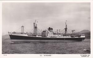 RP; S. S. AYRSHIRE, Cargo Ship, 30-40s