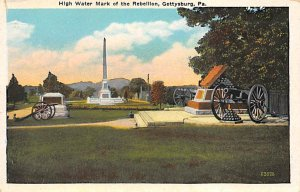 Civil War Post Cards High watermark of the rebellion Gettysburg, PA, USA Unused