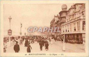 Old Postcard Malo les Bains La Digue