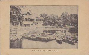 Illinois Lincoln Park Boat House 1910