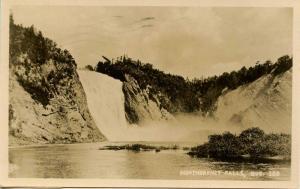 Canada - Quebec, Montmorency Falls.   *RPPC