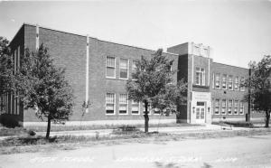 Lemmon South Dakota~High School Building~Perkins County~1950 RPPC-Postcard