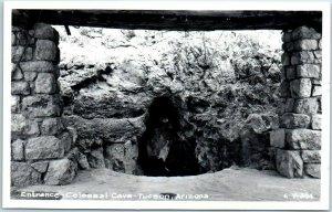 1950s TUCSON Arizona RPPC Real Photo Postcard Entrance - COLOSSAL CAVE Unused
