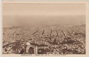 Aerial View of Tibidabo, Vista de la Ciudad, Barcelona, Cataluna, Spain