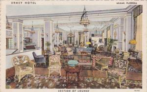 Florida Miami Hotel Urmy Section Of Lounge 1941 Curteich