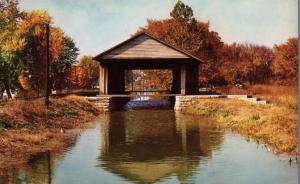 Covered Aqueduct - Whitewater Canal over Duck Creek - Metamora IN, Indiana