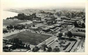 Aerial View 1940s Portland Washington Ellis RPPC real photo postcard 2571
