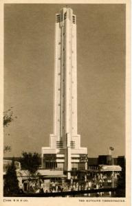 IL - Chicago. 1933 World's Fair-Century of Progress. Havoline Thermometer