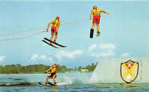 Cypress Gardens Florida~Water Ski Show-Ski Jumpers~1960s Postcard