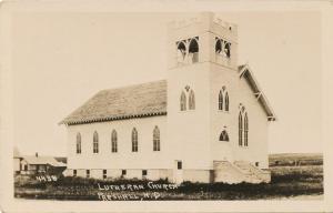 RPPC Lutheran Church - Parshall, Mountrail County ND, North Dakota - pm 1940