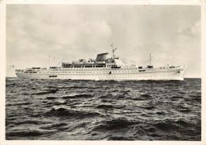 Vintage Real Photo Postcard, Lloyd Triestino M/N Europa Cruise Ship Liner 46V