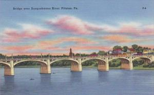 Pennsylvania Pittston Bridge Over Susquehanna River