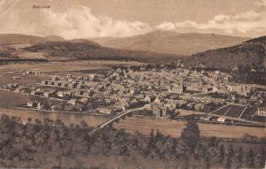 Ballater Scotland Birdseye View Of City Antique Postcard K10086